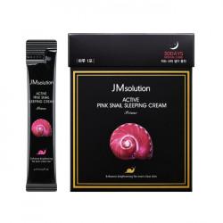 Обновляющий ночной крем с муцином улитки JMsolution Active Pink Snail Sleeping Cream Prime