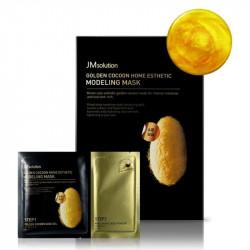 Альгинатная маска с экстрактом золота и шелкопряда JM Solution Golden Cocoon Home Esthetic Modeling Mask