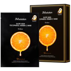 Тканевая маска для выравнивания тона кожи лица JMsolution Glory Aqua Tocopherol Vitamin C Mask