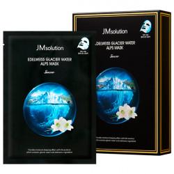 Увлажняющая и придающая упругость тканевая маска с экстрактом эдельвейса JMsolution Edelweiss Glacier Water Alps Mask Snow