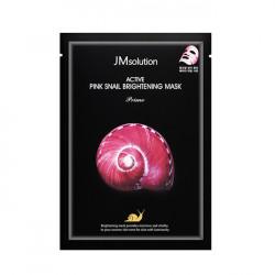 Восстанавливающая тканевая маска с муцином улитки JMsolution Active Pink Snail Brightening Mask Prime