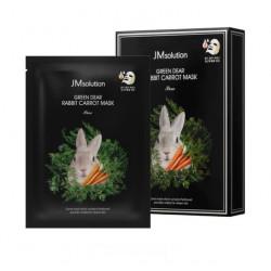 Тканевая маска с экстрактом моркови JMsolution Green Dear Rabbit Carrot Mask Pure
