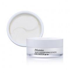 Гидрогелевые патчи с протеинами шёлка JMsolution Silky Cocoon Home Esthetic Eye Patch