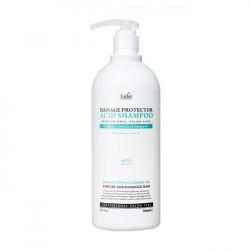 Профессиональный слабощелочный шампунь с коллагеном и аргановым маслом для сухих и поврежденных волос La'dor Damaged Protector Acid Shampoo Pouch, 900 мл