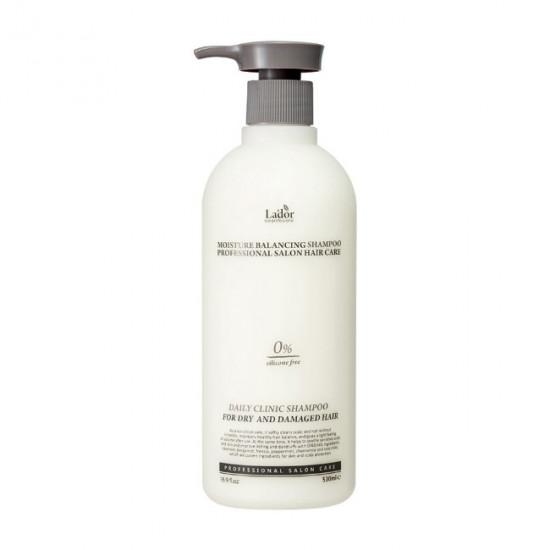 Увлажняющий шампунь для волос с растительными экстрактами La'dor Moisture Balancing Shampoo, 530 мл