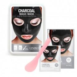 Премиум класса альгинатная маска для лица на основе черного угля Lindsay Luxury Aqua Charcoal Magic Mask