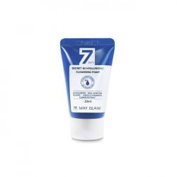 Очищающая пенка с 4 видами гиалуроновой кислотой May Island 7 Days Secret 4D Hyaluronic Cleansing Foam