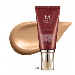 Тональный ВВ-крем для всех типов кожи №.31/Golden Beige Missha M Perfect Cover BB Cream SPF42/PA+++, 50 мл