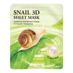Тканевая маска для лица с муцином улитки Missha Healing Snail 3D Sheet Mask