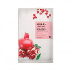 Антивозрастная тканевая маска для лица с экстрактом гранатового сока Mizon Joyful Time Essence Mask Pomegranate