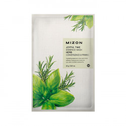 Тканевая маска для проблемной кожи лица с комплексом травяных экстрактов Mizon Joyful Time Essence Mask Herb