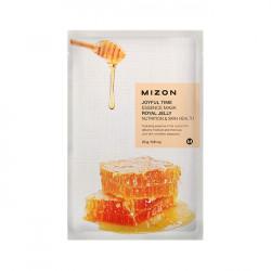 Оздоравливающая тканевая маска для лица с экстрактом маточного молочка Mizon Joyful Time Essence Mask Royal Jelly