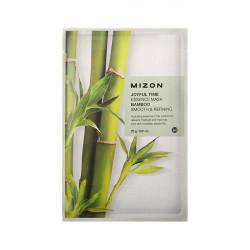 Тканевая маска для эластичности и упругости лица с экстрактом стебля бамбука Mizon Joyful Time Essence Mask Bamboo