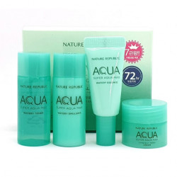 Набор увлажняющих миниатюр Nature Republic Super Aqua Max Trial Kit (4 items)