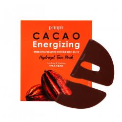 Гидрогелиевая восстанавливающая маска для кожи лица с растительными экстрактами и маслом какао Petitfee Cacao Energizing Hydrogel Face Mask