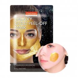 Золотая маска-плёнка для лица очищающая поры Purederm Galaxy Gold Peel-off Mask