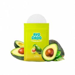 Спонж-ремувер для снятия макияжа с экстрактом авокадо и гиалуроновой кислотой Scinic Avocado Lip And Eye Remover Pads