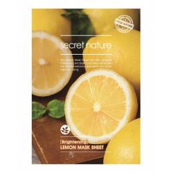 Тканевая маска для сияния кожи лица с лимоном Secret Nature Brightening Lemon Mask Sheet