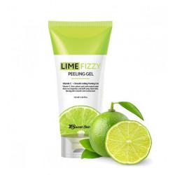 Гель-скатка для очищения лица с экстрактом лайма Secret Skin Lime Fizzy Peeling Gel