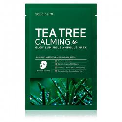 Успокаивающая тканевая маска с чайным деревом Some By Mi Glow Luminous Ampoule Mask Tea Tree