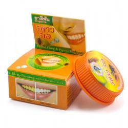 Травяная отбеливающая зубная паста с экстрактом папайи Herbal Clove Toothpaste Papaya 5 Star Cosmetic