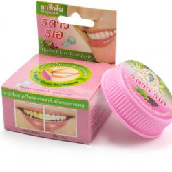Травяная отбеливающая зубная паста с экстрактом мяты и гвоздики 5 Star Cosmetic Herbal Clove Toothpaste