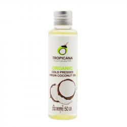 100% натуральное кокосовое масло первого холодного отжима Tropicana Organic Cold Pressed Virgin Coconut Oil 100% 50 мл