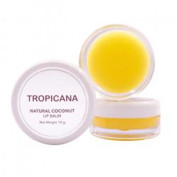Бальзам для губ на основе кокосового масла «Банановое счастье» Tropicana Lip Balm Natural Coconut Banana Happy