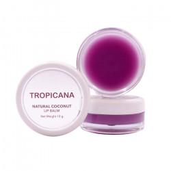 Бальзам для губ на основе кокосового масла с ароматом ежевики Tropicana Lip Balm Natural Coconut Mulberry Cheerful
