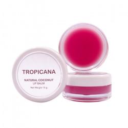 Бальзам для губ на основе кокосового масла с ароматом граната Tropicana Lip Balm Natural Coconut Pomegranate Joyful