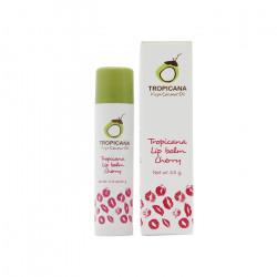 Бальзам для губ на основе кокосового масла с ароматом вишни Tropicana Lip Balm Cherry