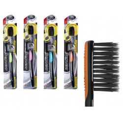 Антибактериальная зубная щетка с натуральным бамбуковым углем Toothbrush Twin Lotus Bamboo & Charcoal