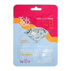 Антивозрастная тканевая маска для разглаживания морщин TokTok Peptide Anti-Aging Facial Sheet Mask