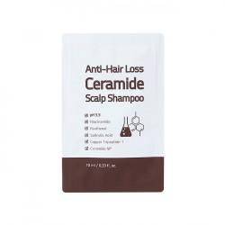 Слабокислотный шампунь с керамидами против выпадения волос Trimay Anti-Hair Loss Ceramide Scalp Shampoo, 10 мл