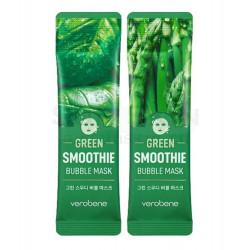 Кислородная очищающая маска смузи для лица Verobene Green Smoothie Bubble Mask