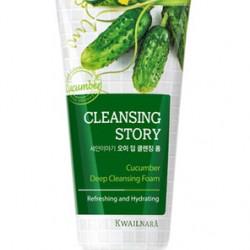 Пенка для умывания с экстрактом огурца Welcos Cleansing Story Foam Cucumber