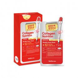 Тканевая маска для питания лица с коллагеном Wellderma Collagen Nutrition Weekly Smart Mask